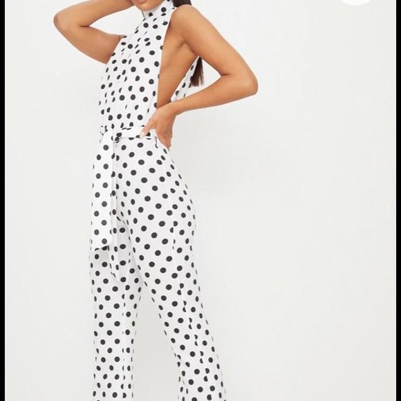 99269618de3 Pretty Little Things Polka Dot Jumpsuit. NWT. PrettyLittleThing
